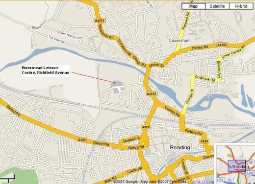 Reading motorcycle training centre map