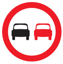 Red Highway Code circle