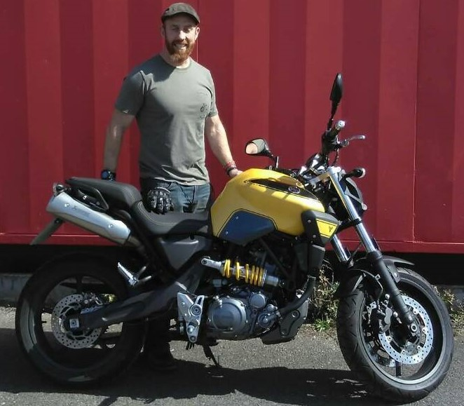 Yellow Yamaha MT-03